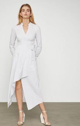 BCBGMAXAZRIA Cotton Stripe Wrap Dress
