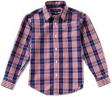 Brooks Brothers Little/Big Boys 4-20 Plaid Button-Front Long-Sleeve Shirt