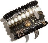 Sydney Evan 6mm Faceted Silver Pyrite Beaded Bracelet with 14k Yellow Gold/Micropave Diamond Horseshoe Charm (Made to Order)