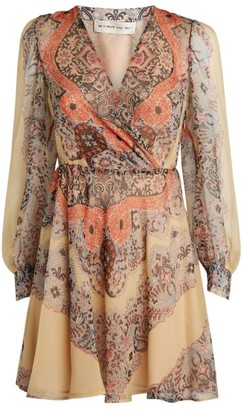 Etro Paisley Wrap Mini Dress