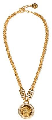 Versace Medusa-medallion Metal Necklace - Gold