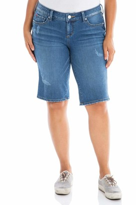 SLINK Jeans The Mid Rise Bermuda Shorts in Frances Size 22
