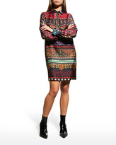 Thumbnail for your product : Etro Geo Animal-Print Silk Shirtdress