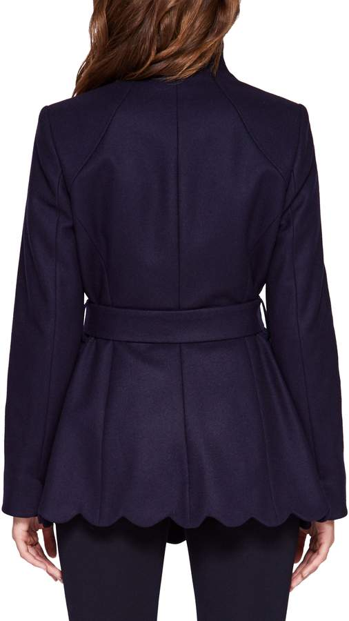 Ted Baker Scallop Detail Wool Wrap Coat