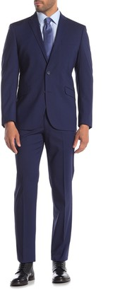 Kenneth Cole Reaction Blue Check Techni-Cole Slim Fit Suit