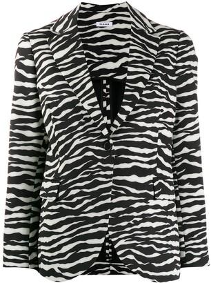 P.A.R.O.S.H. zebra print blazer