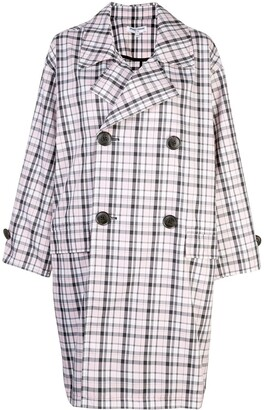 Opening Ceremony Oversized Plaid Trench