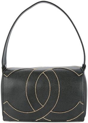 Chanel Pre Owned 2004-2005 Stitched Logo Shoulder Bag