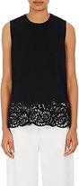 R/R Studio by Robert Rodriguez Women's Guipure Lace Shell-BLACK