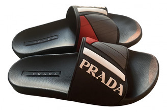 Prada Black Rubber Sandals
