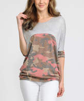 Celeste Heather Gray Camouflage-Accent Tunic