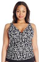 Athena Women's Plus-Size Sand Tropez Tankini