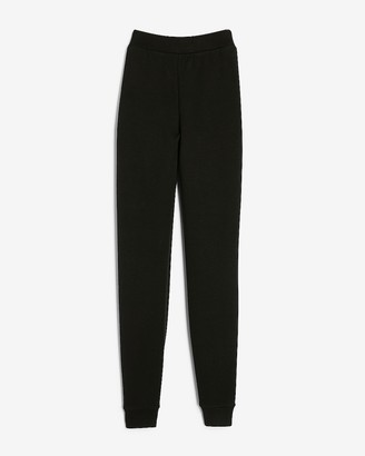 Express High Waisted Heavyweight Stretch Knit Joggers