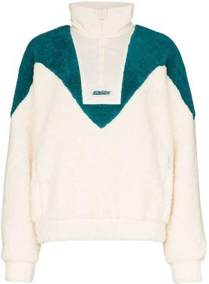 Misbhv panelled half-zip fleece sweatshirt