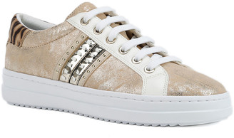 Geox Pontoise Mixed Leather Low-Top Sneakers