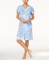 Miss Elaine V-Neck Printed Short Robe