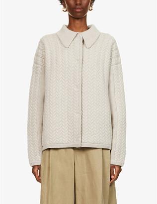 Le Kasha Bilbao cable-knit cashmere cardigan