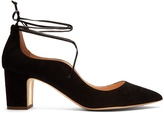 Rupert Sanderson Poet point-toe suede pumps