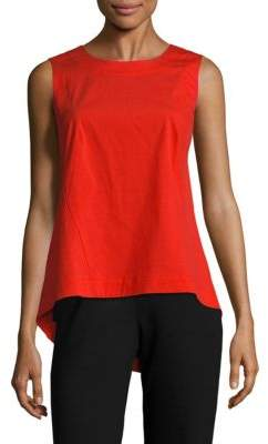 Lafayette 148 New York Melina Solid Asymmetric Roundneck Top