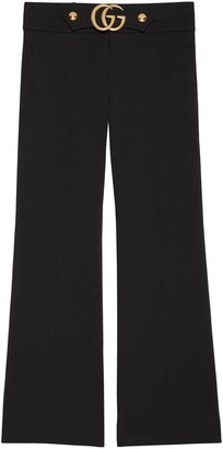 Gucci Stretch viscose pant with Double G