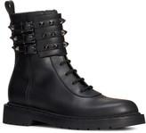 Valentino Garavani Rockstud Buckle Combat Boot
