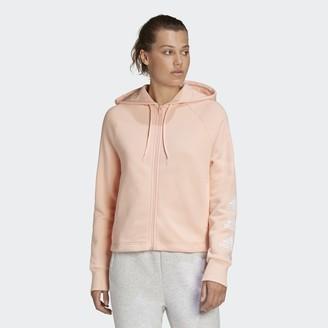 adidas Stacked Logo Full-Zip Fleece Hoodie