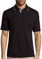 Claiborne Short-Sleeve Interlock Polo