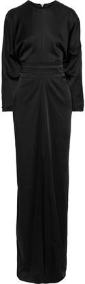 Max Mara Pagode Crystal-embellished Satin-crepe Gown