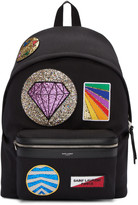 Saint Laurent Black Multi-Patch City Backpack