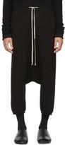 Rick Owens Black Cashmere Boxer Pods Shorts