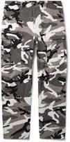 Balenciaga - Slim-Fit Camouflage-Print Cotton-Twill Cargo Trousers