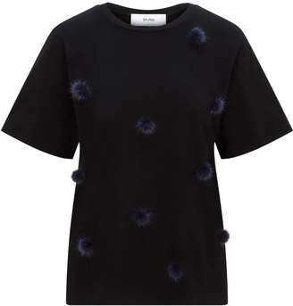In.No Black Billie Navy Pom Pom T-Shirt