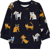 Catimini Navy Cat and Dog Print Sweatshirt