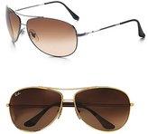 Wrap Aviator Sunglasses