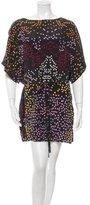 Issa Silk Leaf Print Dress