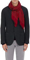 Drakes Drake's Men's Polka Dot Scarf-RED