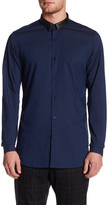 The Kooples Leather Collar Fitted Shirt