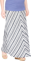 Motherhood Secret Fit Belly Chevron Stripe Maternity Skirt