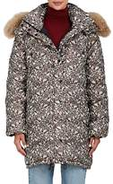 Ulla Johnson Women's Roi Fur-Trimmed Floral Jacquard Coat