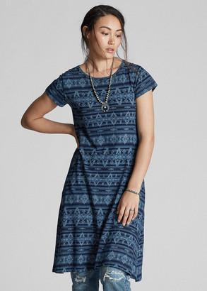 Ralph Lauren Discharge-Printed Jersey Dress