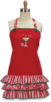 Bed Bath & Beyond Celebrate Frill Embroidered Apron – 100% Cotton