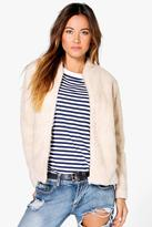 Boohoo Boutique Evie Teddy Fur Bomber Jacket