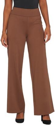 Bob Mackie Petite Flat Waist Wide-Leg Pants