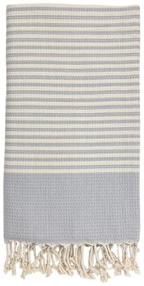 Slate & Salt Textured Stripe Turkish Towel