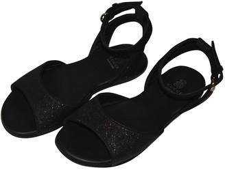 Gucci Black Glitter Sandals