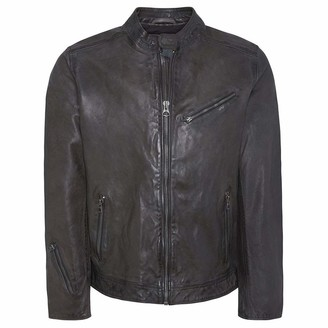Pepe Jeans Men's Fossee Leather Jacket