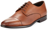a. testoni a.testoni Leather Cap Toe Derby Shoe