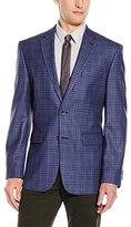 Vince Camuto Men's Blue Gingham Sport Coat