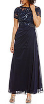Alex Evenings Petite Embroidered Lace Gown