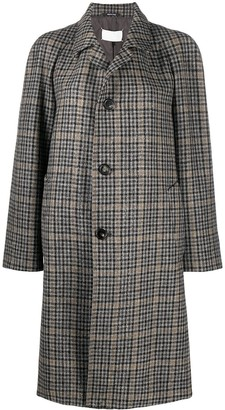 Maison Margiela Single-Breasted Check Coat
